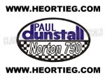 Paul Dunstall Norton 750 Tank and Fairing Transfer Decal DDUN8-2